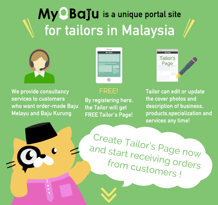 Banner about Registering as Tailor for free