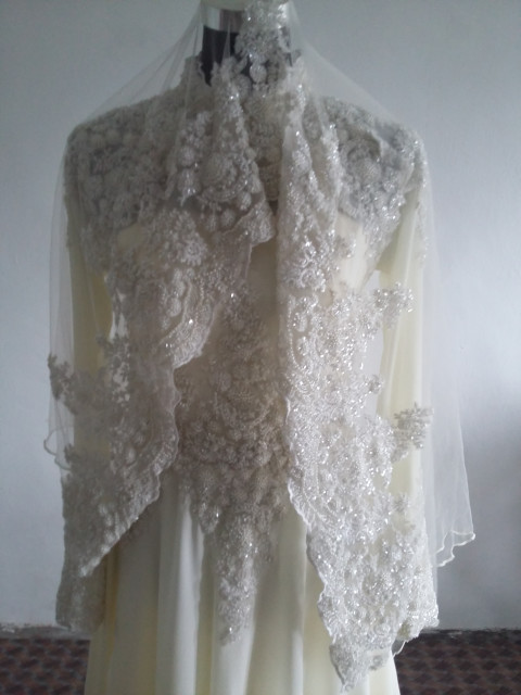 Photo 3 of  TP-267001 Baju pengantin.n full lining n lace..veil n shawl..