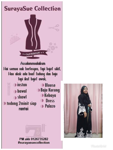 Photo 1 of Surayasue collection TP-378001 baju kurung moden lace