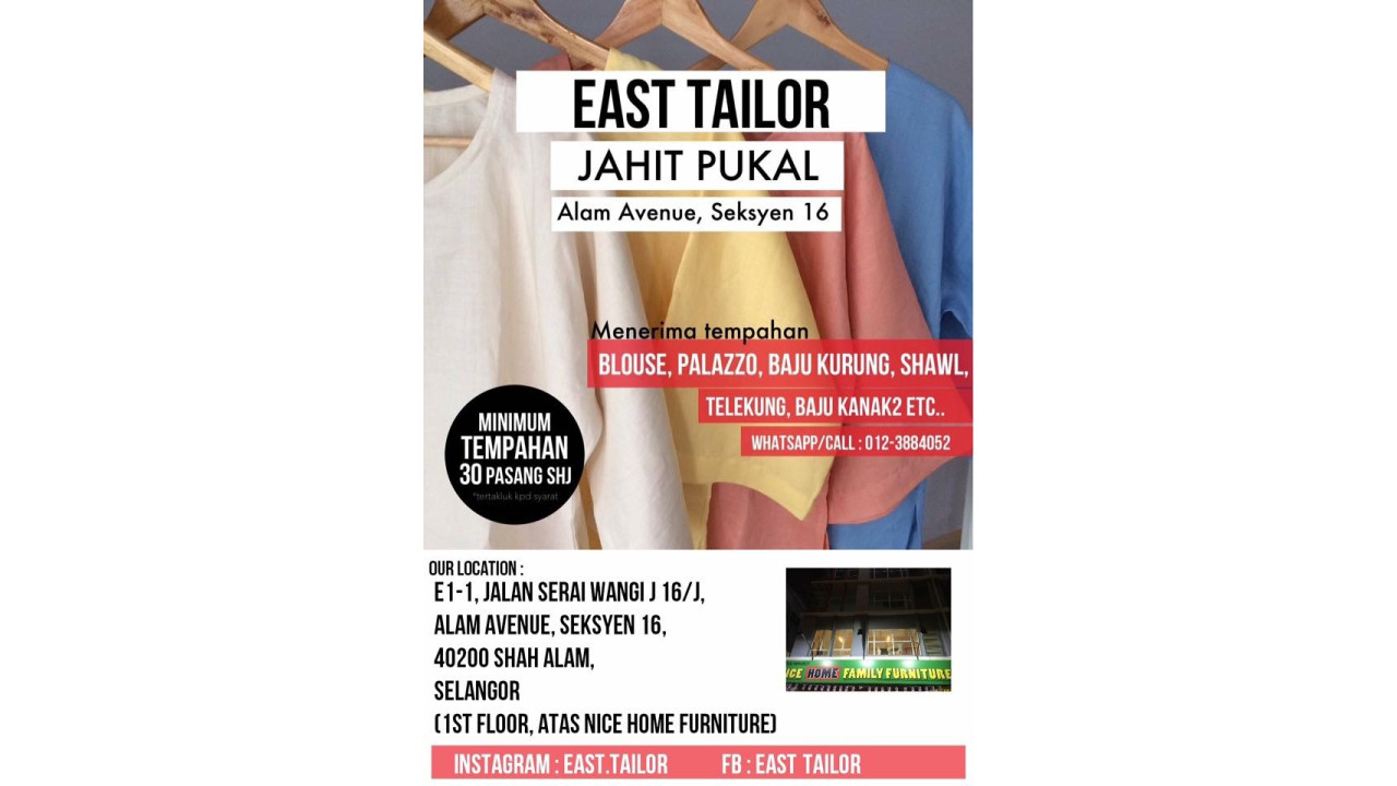 East Tailor X Jahit Pukal  Photo 1 of Tailor-113