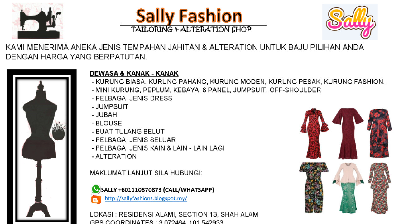 Sally Fashion Tailoring & Alteration Shop Photo 1 of Tailor-446